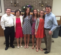 Gervasi Family attends Easter Service